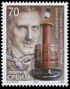 Serbia. 2016. 125 years since the patent of Tesla's transformer (MNH OG) Stamp