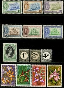 BRITISH HONDURAS Sc#131-6,143,208-11,J1-3 Four Complete Sets Mint Lightly Hinged