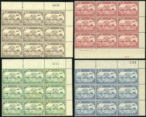 JORDAN #245-248 UPU 75 Ann. Middle East Postage Blocks Stamp Collection 1949 MNH