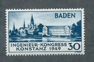 Germany Baden 5N41 Constance Cathedral single MNH