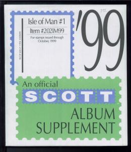 1999 Isle of Man #1 Scott Stamp Album Collection Supplement Pages Item #202IM99