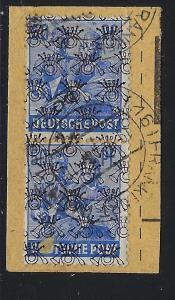Germany AM Post Scott # 629, used, pair, var. inverted o/p, opp