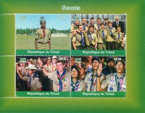Chad Scouting Stamps 2018 MNH Boy Scouts 4v M/S