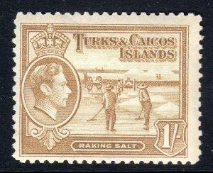 TURKS & CAICOS-,,,1938-45...SG 202  .. 1/-   mm     cv £5