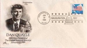 Artcraft Inauguration Day 1989 Dan Quayle 44th Vice President Indianpolis IN