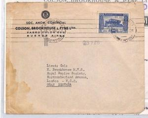 ARGENTINA Buenos Aires Commercial Cover + Contents GB London 1946 XX337