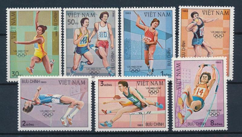 [55671] Vietnam 1983 Olympic games Los Angeles Athletics MNH