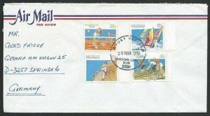 AUSTRALIA 1990 cover to Germany - nice franking - .........................47312