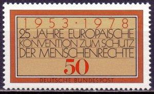 Germany. 1978. 979. Human rights. MNH.