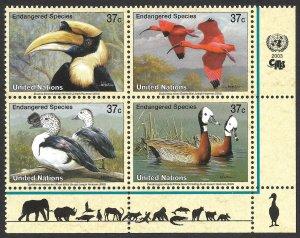 Doyle's_Stamps: MNH 2003 U.N. New York Endangered Species Inscription Block