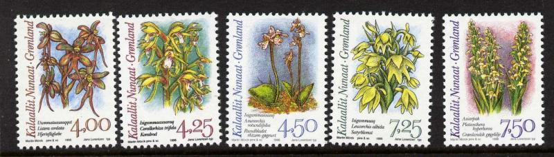 Greenland 279-83 MNH Flowers, Orchids