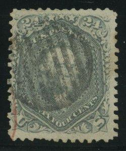 70b, Used 24c STEEL BLUE RED/BLACK CNLS Cat $925.00 BV3627