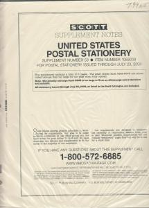 Scott U.S. Postal Stationery Supplement #59 Issues Through July 2009