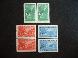 Stamps - Cuba - Scott#337-339 - MNH Set in Pairs