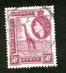 KUT Scott 110 - SG173, 1954 Giraffe 50c used