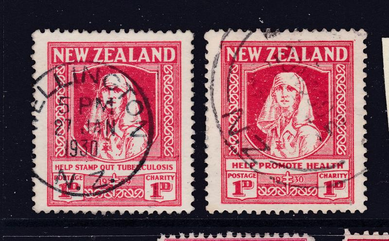 New Zealand the 1929 & '30 Health stamps used
