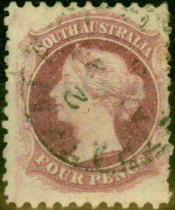 South Australia 1872 4d Dull Lilac SG103 P.10 x 11.5 Good Used