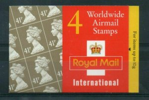 GN2 1995 Worldwide Airmail Booklet 4 x 41p - complete