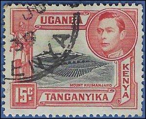Kenya,Uganda and Tanganyika #72 1943 Used