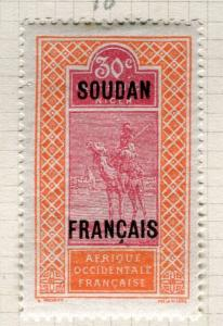 FRENCH SOUDAN; Early 1900s pictorial issue Mint hinged 30c. value