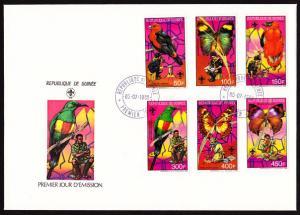 Guinea - 1988 Scouting, Butterflies, Birds FDC
