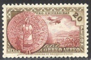 MEXICO #C61 SCARCE Mint - 1934 20p Calendar Stone
