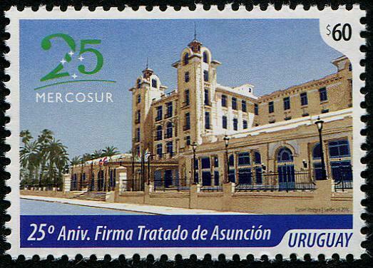 HERRICKSTAMP NEW ISSUES URUGUAY Sc.# 2549 25 Years Mercosur