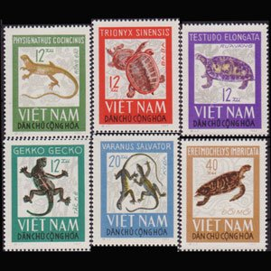 VIET NAM NORTH 1966 - Scott# 413-8 Reptiles Set of 6 NH