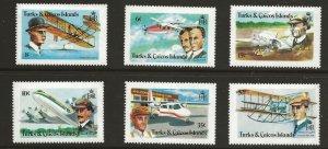 Turks & Caicos (1978)  - Scott # 347 - 352,   MNH