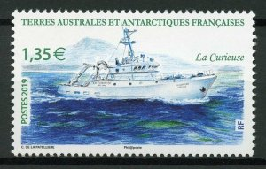 FSAT TAAF 2019 MNH La Curieuse Research Ship 1v Set Ships Boats Nautical Stamps