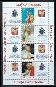 Poland Scott 3724-3725 Souvenir Sheet! MNH!