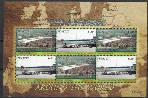 St. Kitts MNH S/S The Concorde Jet