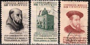 MEXICO 748-750, 400th Anniv 1st Printing Press in America. USED. VF. (888)