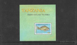 FISH - TANZANIA FISH OF LAKE VICTORIA #2387 S/S  mnh