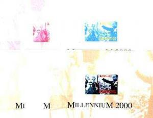Turkmenistan 2000 Millennium souvenir sheet (Einstein &am...