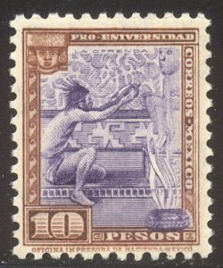 MEXICO #706 SCARCE Mint - 1934 10p Worshiper