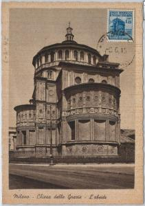 57343 -  ITALY RSI - POSTAL HISTORY: MAXIMUM CARD 1945 - ARCHITECTURE