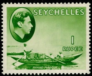 SEYCHELLES SG146, 1r yellow-green, LH MINT. Cat £150.