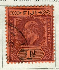 FIJI; 1904 early Ed VII issue fine used 1d. value