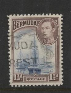 Bermuda - Scott 119 - Hamilton Harbor - 1938 - VFU -  Single - 1.1/2d Stamp