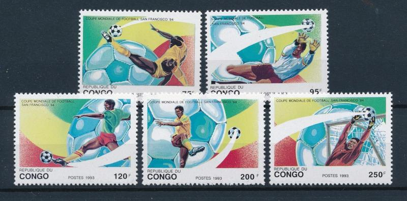 [59569] Congo Brazzaville 1993 World Cup Soccer Football USA MNH