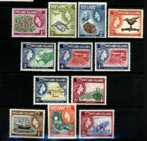 Pitcairn Isl. Scott 20-31 coplete set Mint Lightly Hinged