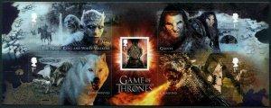 HERRICKSTAMP GREAT BRITAIN Sc.# 3695 Game of Thrones Souvenir Sheet