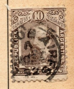 Argentina 1888-90 Early Issue Fine Used 10c. NW-11782