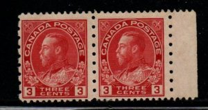 Canada Sc 184 1931 3 c G V Admiral stamp pair  mint NH perf 12 x 8