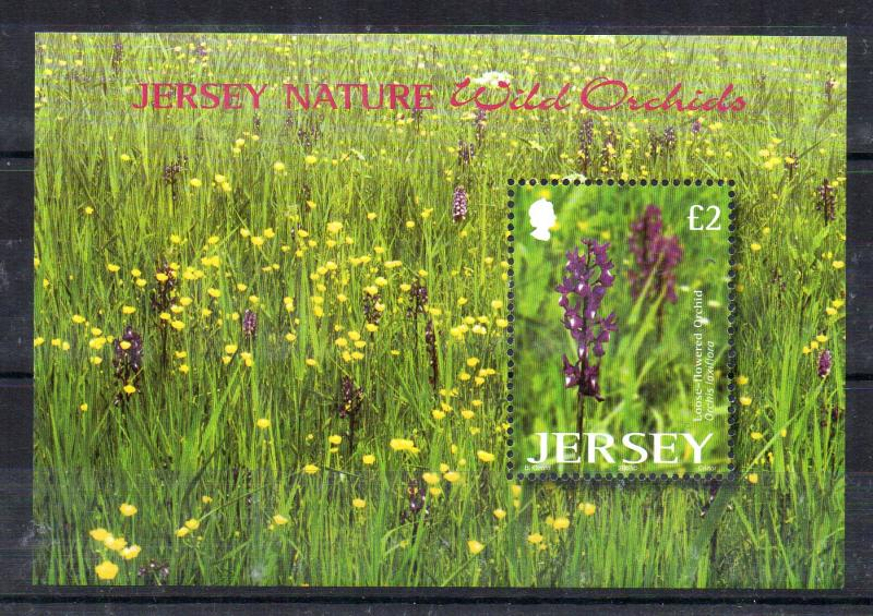 JERSEY - MINIATURE SHEET - FLOWERS - WILD ORCHIDS - 2003 -