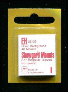 Showgard Clear Stamp Mounts EH 25/22 PreCut  (40 count)