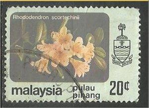 PENANG, 1979, used 20c, Flowers Scott 86