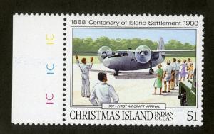 CHRISTMAS ISLAND 222 MH SCV $2.25 BIN $0.90 MILITARY AIRPLANE