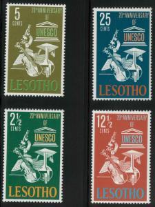 Lesotho 21-24 Mint VF NH